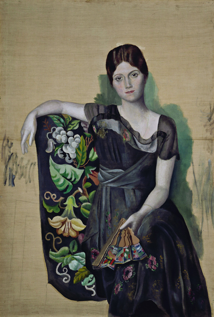 «Портрет Ольги в кресле» (1917) Пабло Пикассо Местонахождение: France, Paris, Musee National Picasso (Музей Пикассо в Париже)