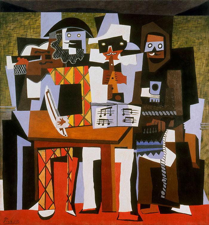 «Три музыканта» Пабло Пикассо (1921) Местонахождение: USA, Philadelphia, Museum of Art.