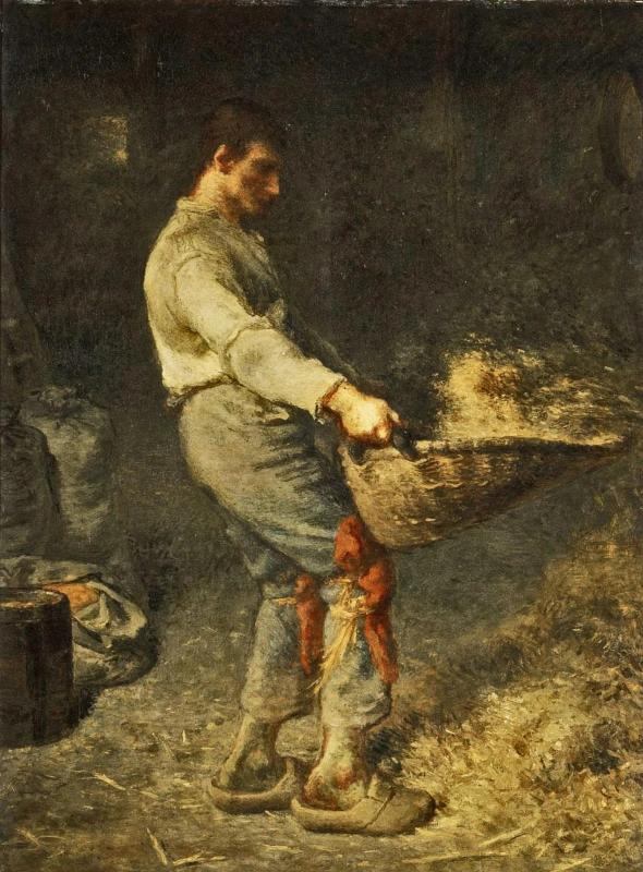 """Веяльщик"" Жан-Франсуа Милле 1848, 79,5 × 58,5 см"