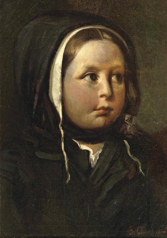 """""""Портрет девушки"""" Гюстав Курбе44,5 × 31,5 см , 1840 г."""