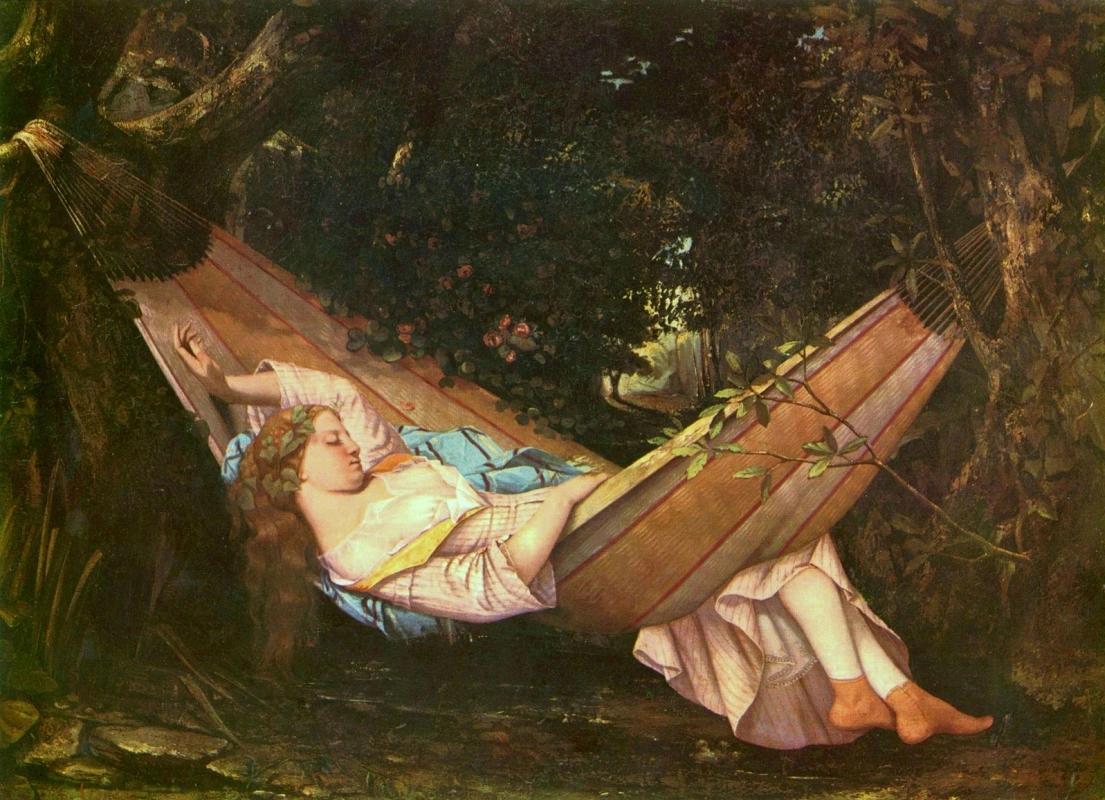 """""""Гамак"""" Гюстав Курбе70,5 × 97 см , 1844 г. Частное собрание, Швейцария."""