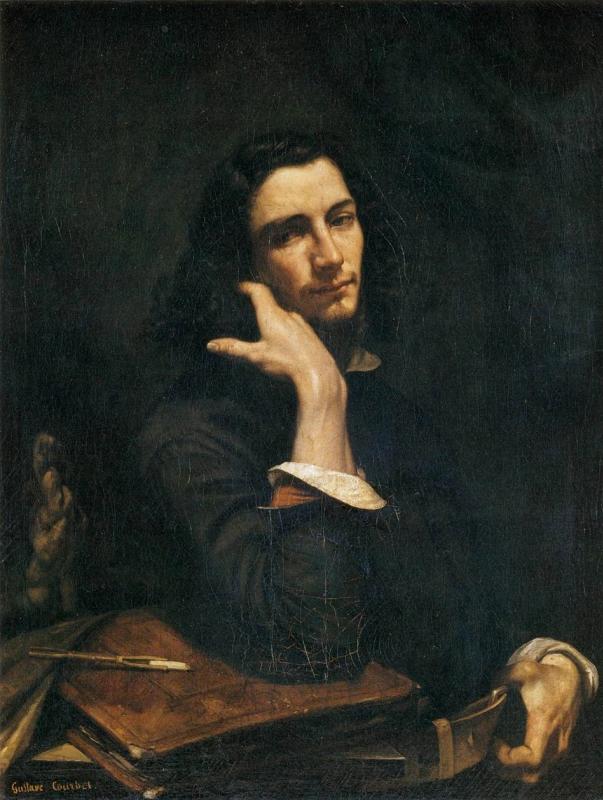 Автопортрет (Мужчина с кожаным поясом)Гюстав Курбе100 × 82 см , 1846 г.