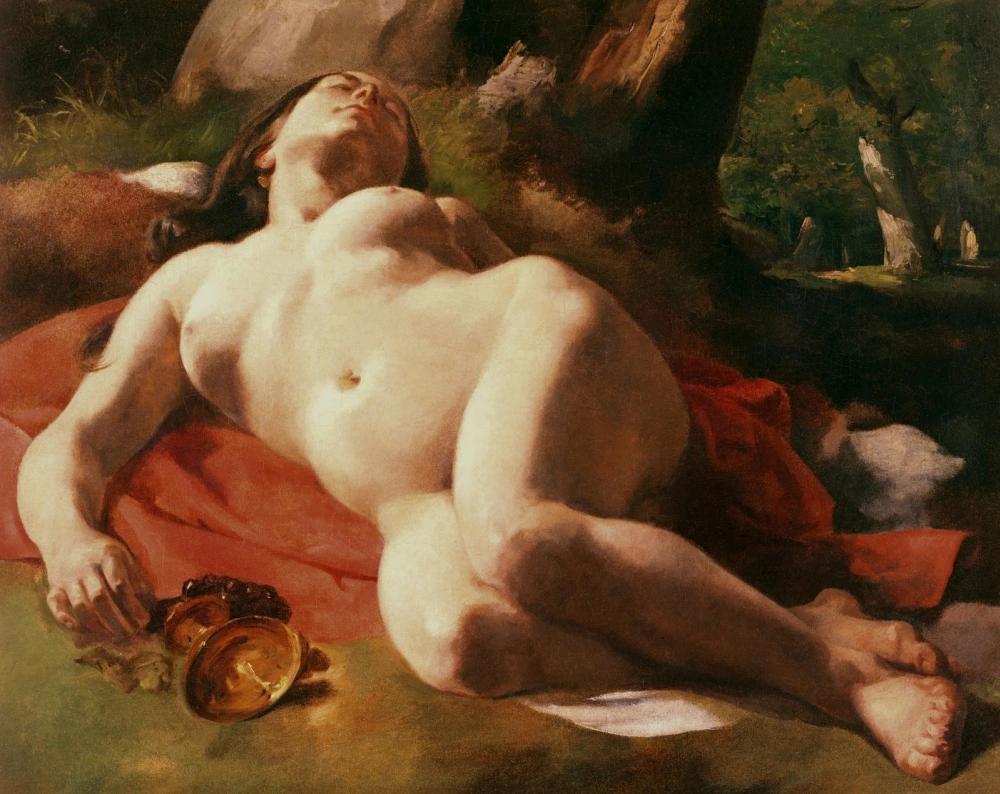 """""""Вакханка"""" Гюстав Курбе76 × 63 см , 1847 г."""