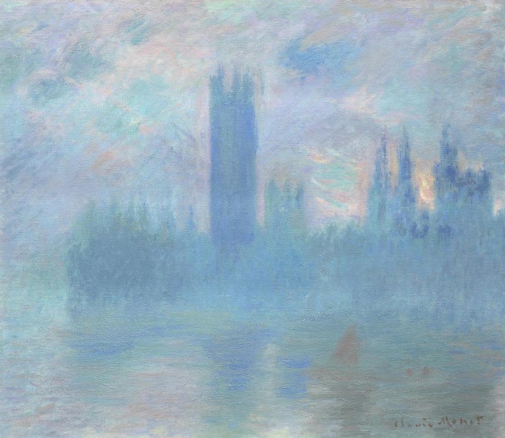 Клод Моне «Здание парламента в Лондоне», 1901, 81.2 × 92.8 см Чикагский институт искусств, Чикаго