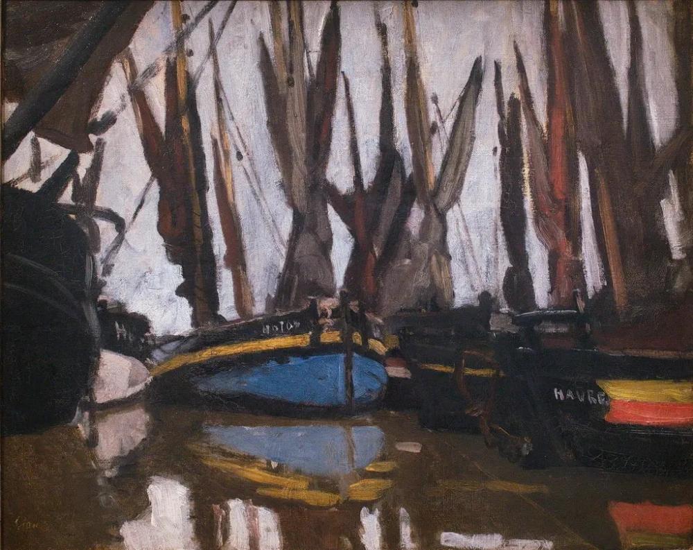 Клод Моне «Рыболовные лодки», 1866 г. Частная коллекция.