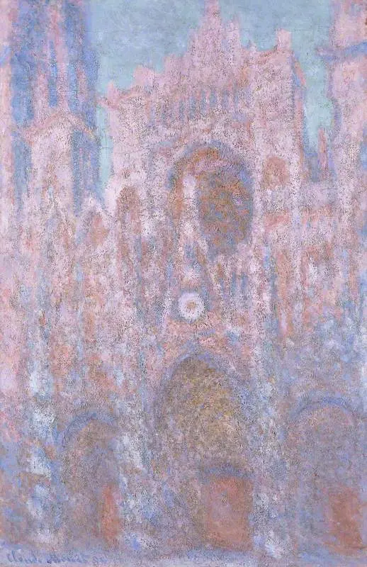Клод Моне «собор Моне на заходе солнца (Серо-розовая симфония)»