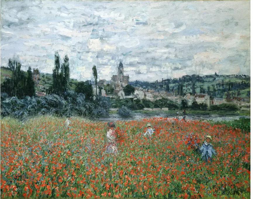 Клод Моне «Маковое поле возле», 1879, 73 × 92 см собрание фонда Эмиля Бюрле, Цюрих