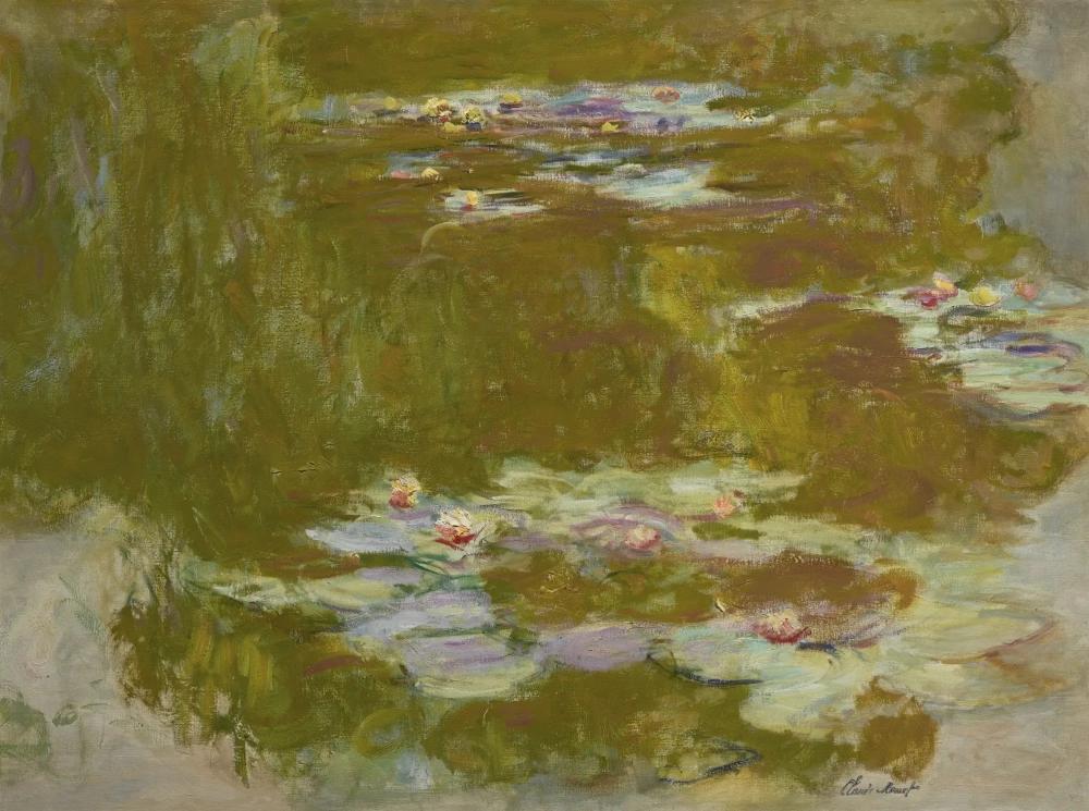 Клод Моне «Пруд с лилиями», 1910-е, 97.2 × 129.9 см
