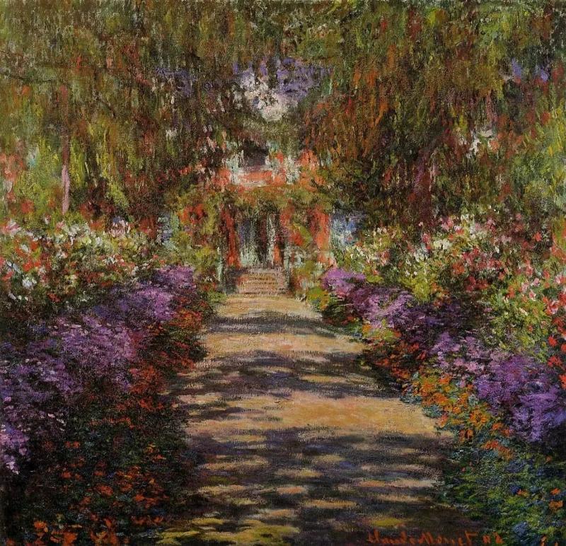 Клод Моне «Садовая дорожка», 1901, 92 × 89 см Верхний Бельведер, Вена
