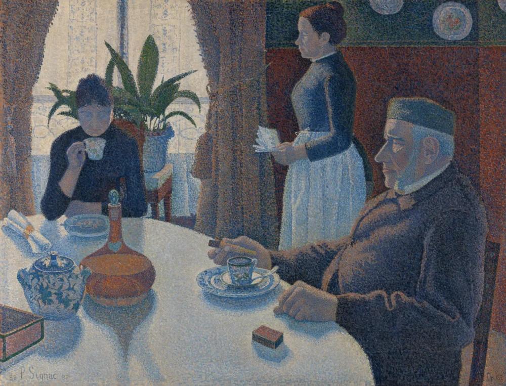Завтрак или столовая Поль Синьяк, 1887, 89 × 115 см Музей Крёллер-Мюллер, Оттерло