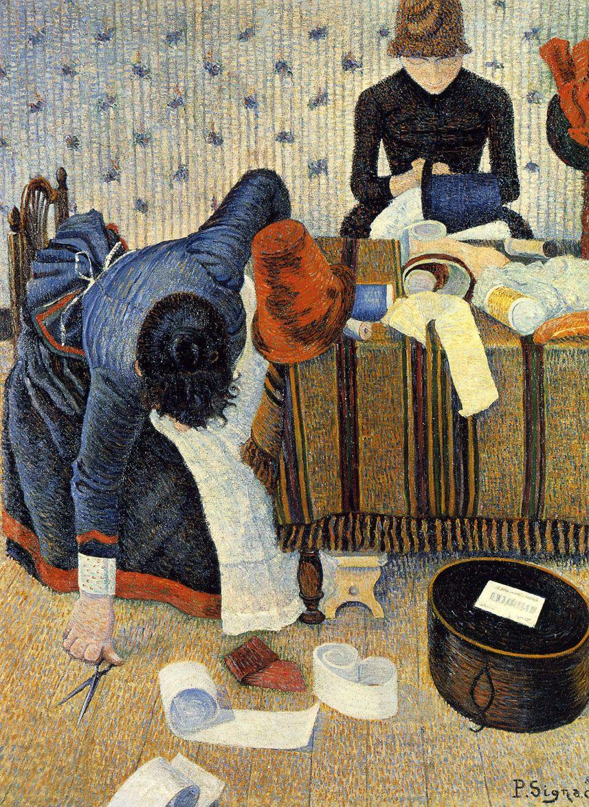Модистки Поль Синьяк, 1885-1886Собрание фонда Эмиля Бюрле, Цюрих 116х89 см