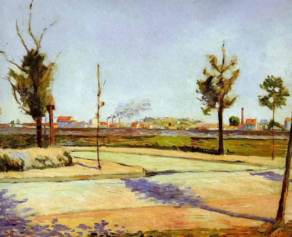 Дорога из ЖенвильеПоль Синьяк, 1883, 73 × 91.5 см Musee d'Orsay, Париж