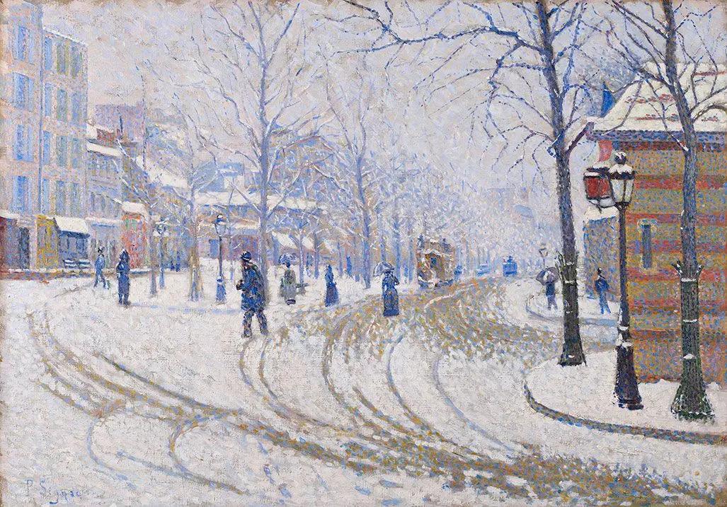 Бульвар КлишиПоль Синьяк, 1887, 48.1 × 65.6 см Институт искусств Миннеаполиса, Миннеаполис