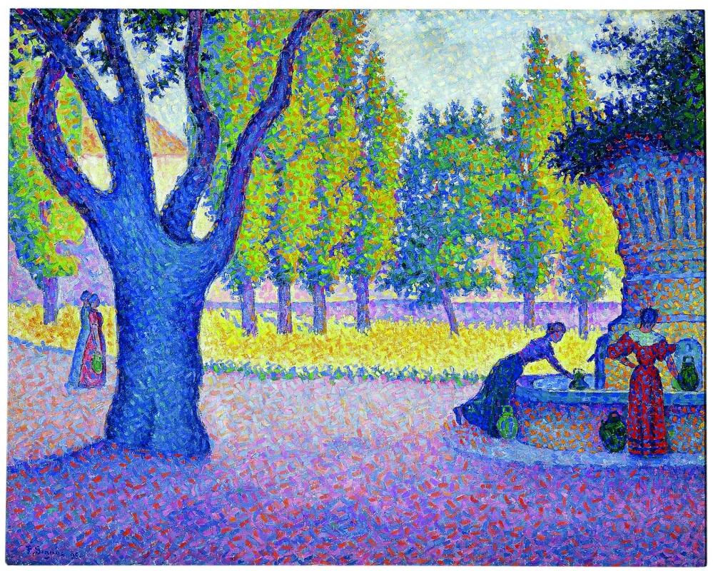 Сен-Тропе. Фонтан де Лис Поль Синьяк, 1895, 65 × 81 см