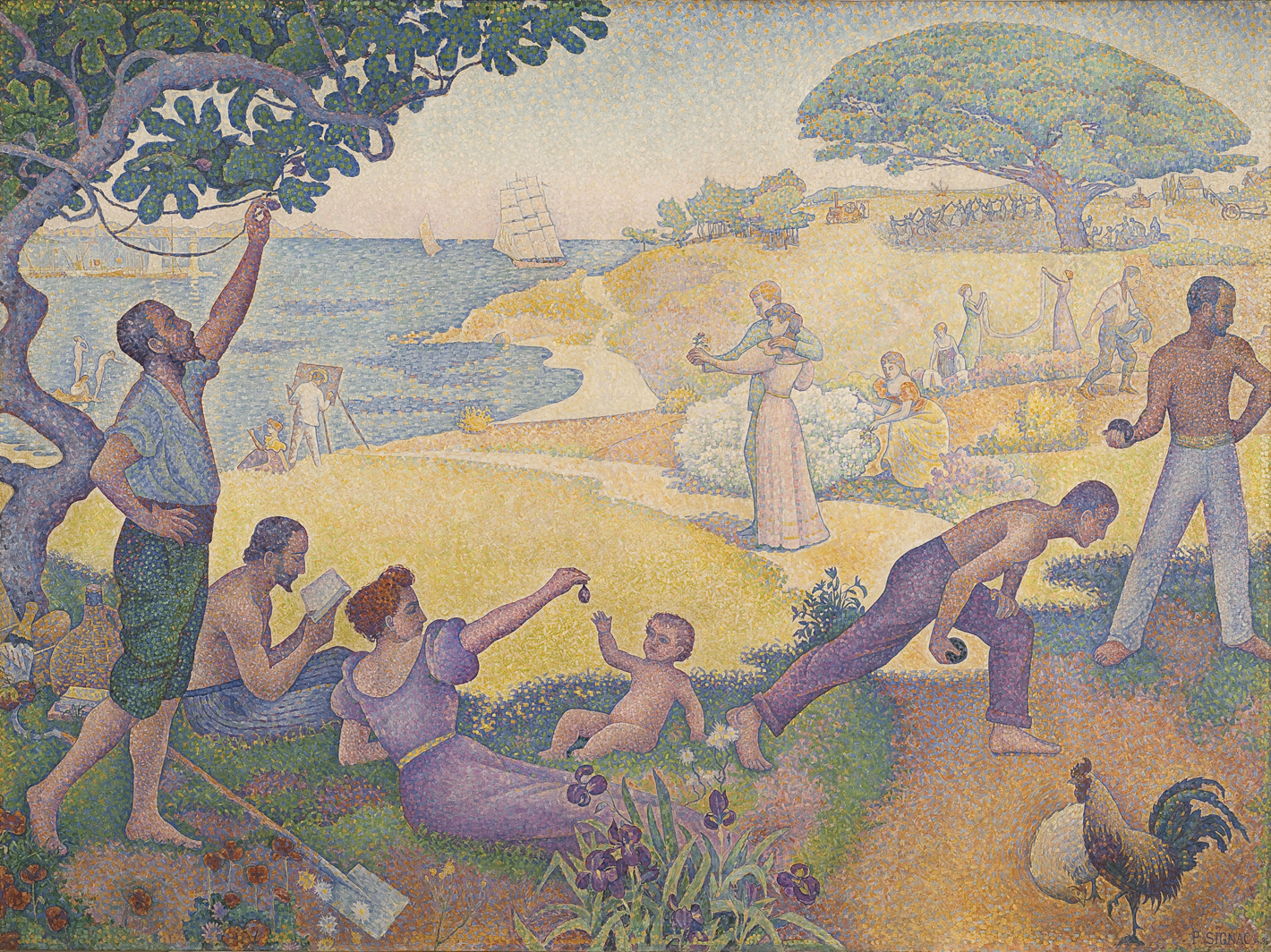Во времена гармонии. Золотой век не в прошлом, а в будущем. Поль Синьяк, 1893-1895 Городская мэрия, Монтрёй 310 x 410 см