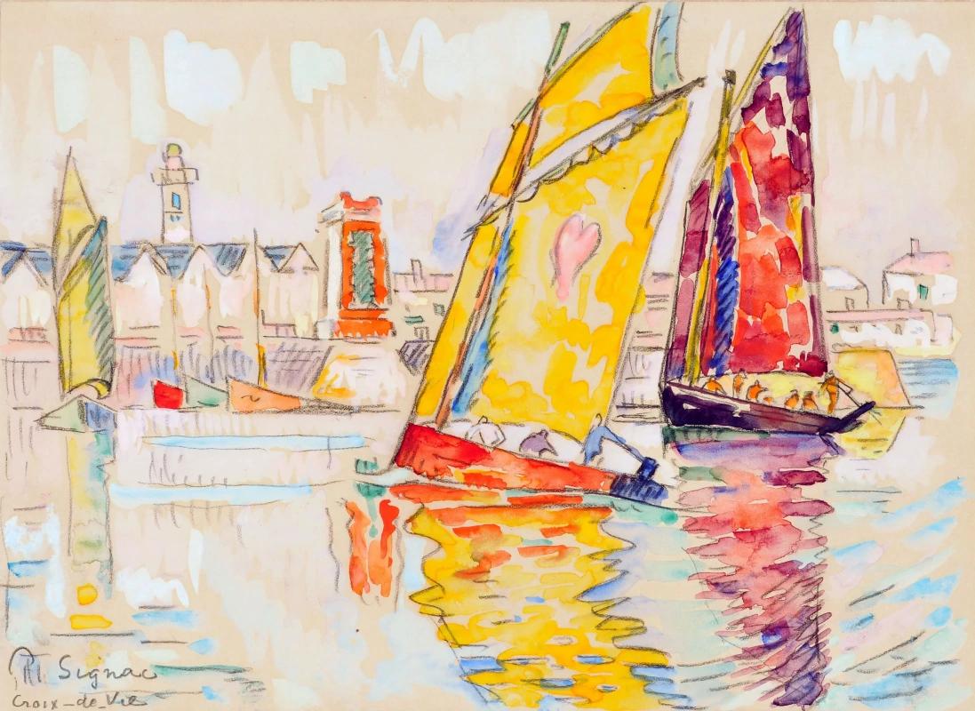 Порт Круа-де-Ви. Поль Синьяк, 1929, 20.3 × 28.6 см частная коллекция