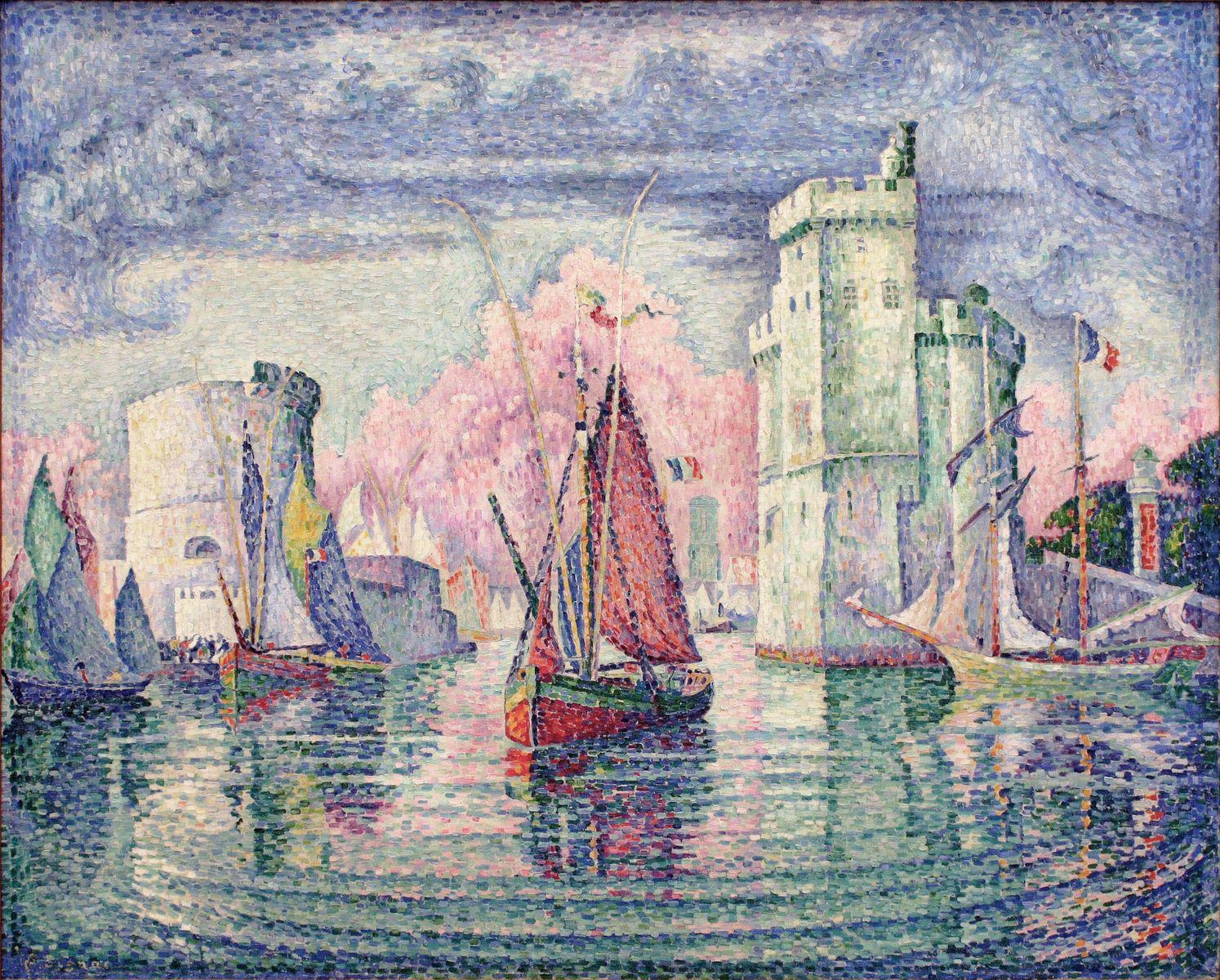 Вход в порт Ла-Рошель. Поль Синьяк, 1921, Музей Орсе, Париж 130 x 162 см