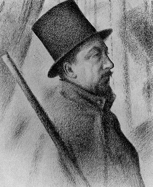 Автопортрет.  Поль Синьяк, 1890, 65.7 × 80 см
