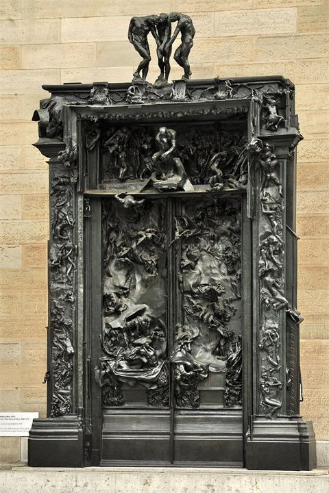 «Врата ада» - монументальная скульптурная групповая работа французского художника Огюста Родена, изображающая сцену из «Инферно», первой части «Божественной комедии» Данте Алигьери.