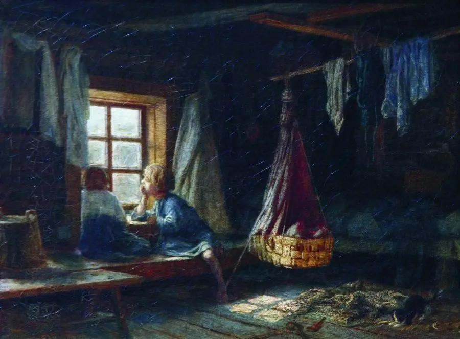 Дети в доме Константин Аполлонович Савицкий, 1860-е Государственный Русский музей, Санкт-Петербург