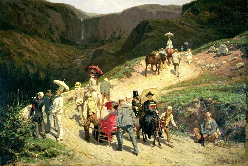 Путешественники в Оверни, Константин Аполлонович Савицкий, 1876 Государственный Русский музей, Санкт-Петербург