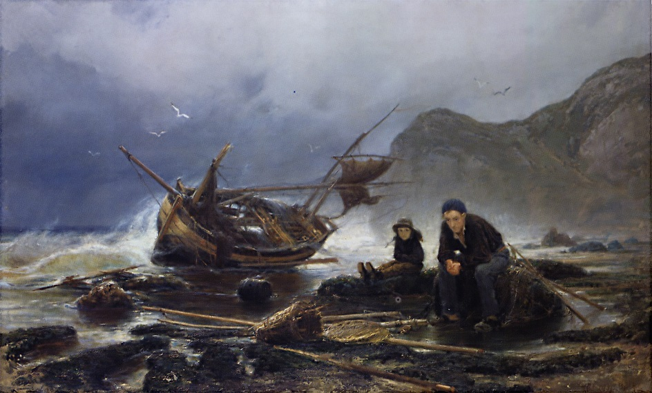 Море в Нормандии, Константин Аполлонович Савицкий, 1875, Государственный музей изобразительных искусств Республики Татарстан, г. Казань.