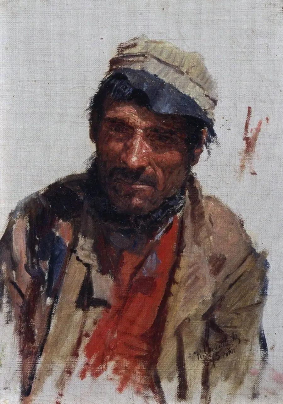 Норманский рыбак, Константин Аполлонович Савицкий, 1875 г. Государственная Третьяковская галерея, Москва
