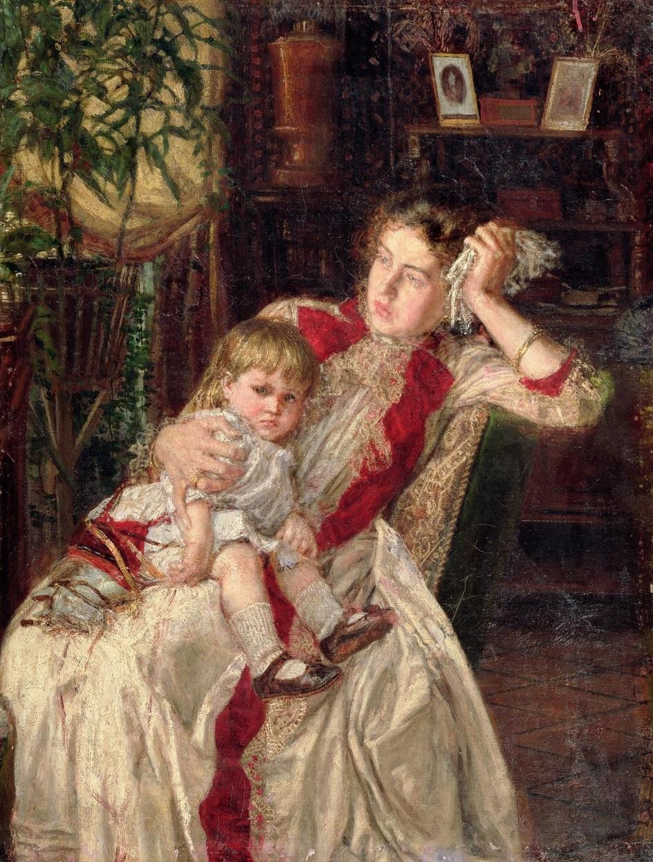 Семейная ссора, Константин Аполлонович Савицкий, 1890 г.