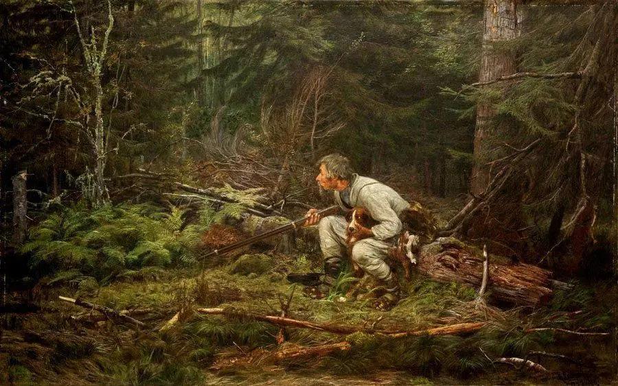 Охотник, Константин Аполлонович Савицкий, 1874 г.