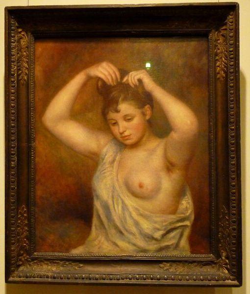 Огюст Ренуар  «Причесывающаяся женщина» 1887г. Государственный Эрмитаж, Санкт-Петербург