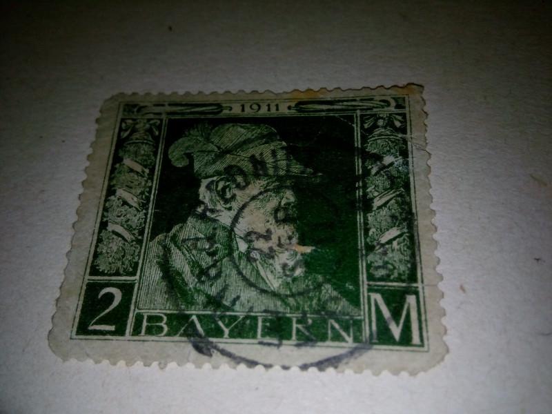1911г марка , с изображением принца - регента Леопольд, в честь 90 - летия принца ( # SG.149а # Mi. # 76-91, Sc. # 77-91)