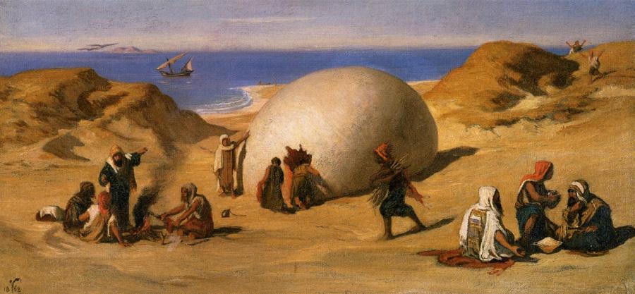 Илайхью Ведер (Elihu Vedder). Яйцо птицы Рух. 1868.