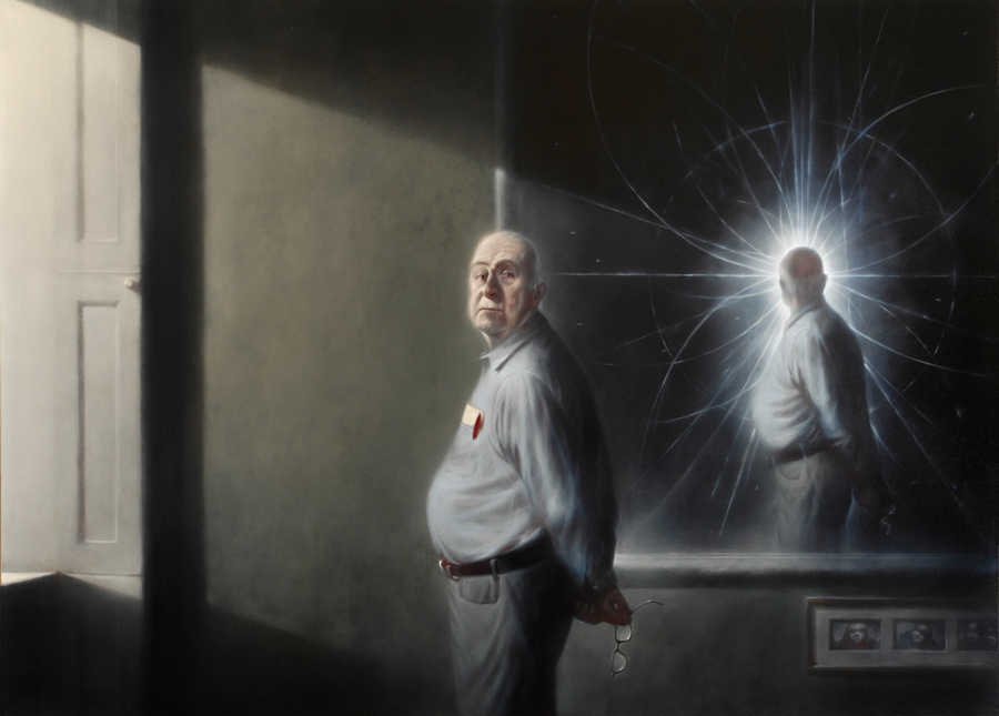 Ken Currie. Portrait of Peter Higgs. 2008.