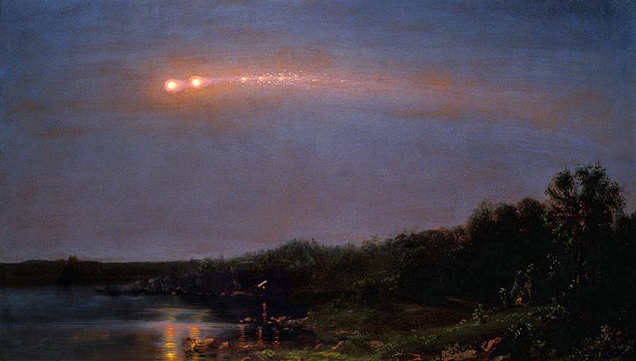 Фредерик Эдвин Чёрч (Frederic Edwin Church). Метеор 1860 года. 1860.