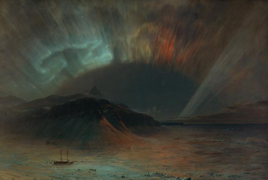 Фредерик Эдвин Чёрч (Frederic Edwin Church). Северное сияние.1865.