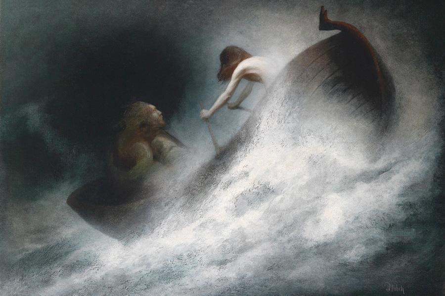 Карл Вильгельм Дифенбах (Karl Wilhelm Diefenbach). Спасение вопреки. 1913.