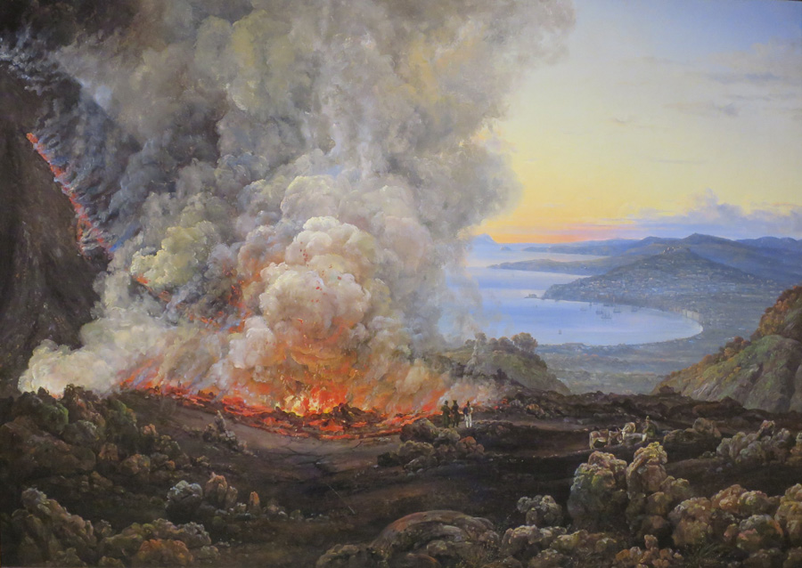 Юхан Кристиан Клаусен Даль ( Johan Christian Klausson Dahl). Извержение Везувия. 1821 год.