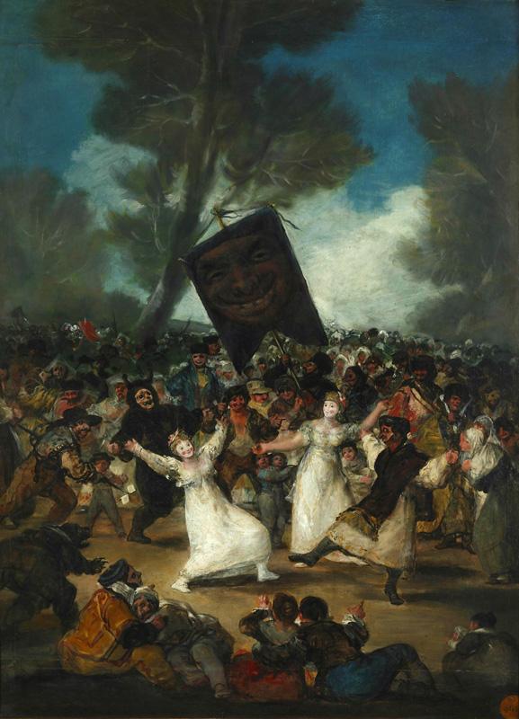 Франсиско Гойя. Похороны сардинки. 1812 – 1819.