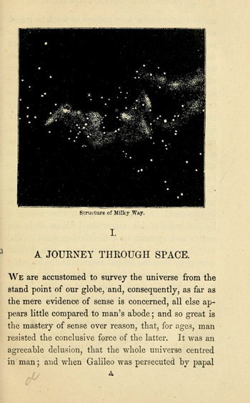 Страница из книги Уильяма Лейтча «God's Glory in the Heavens». Издание 1867 года, Лондон.