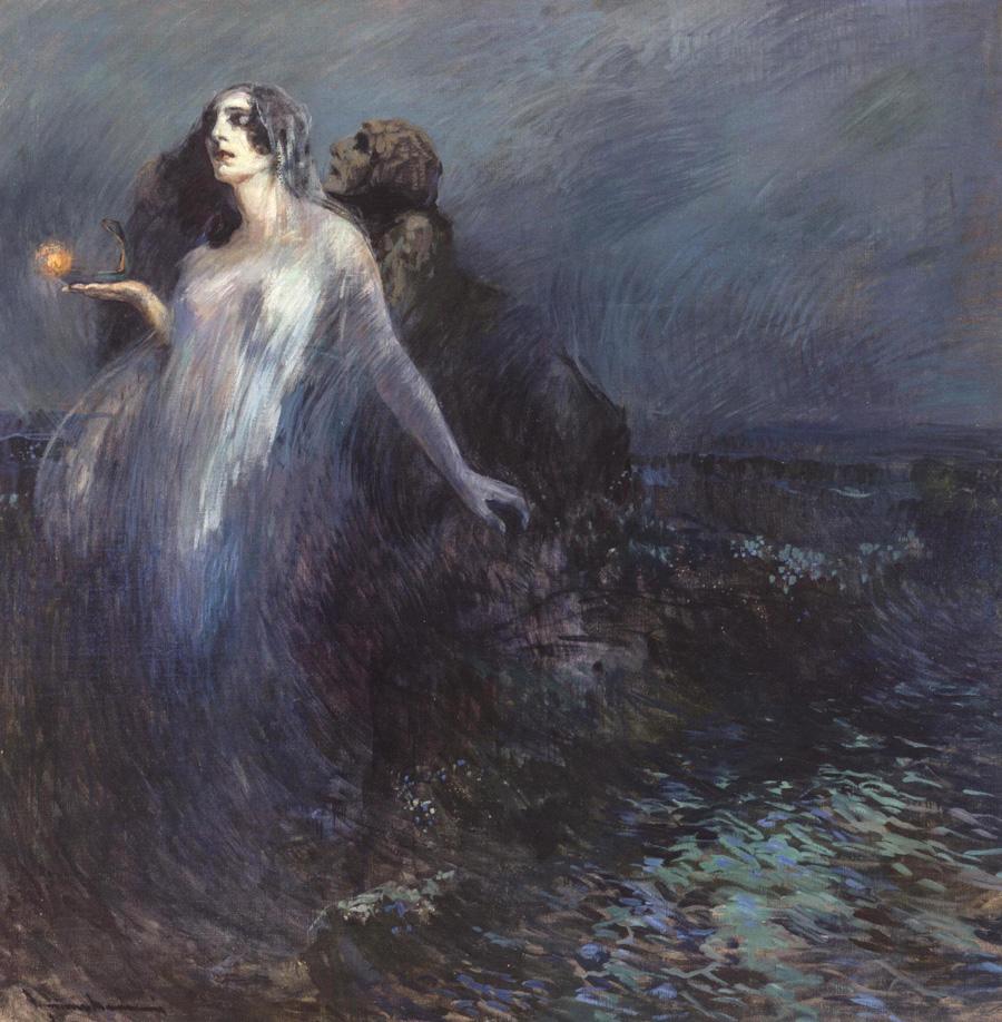 Чиприано Мануччи  (Cipriano Mannucci). К свету (Verso la luce). 1910 год.
