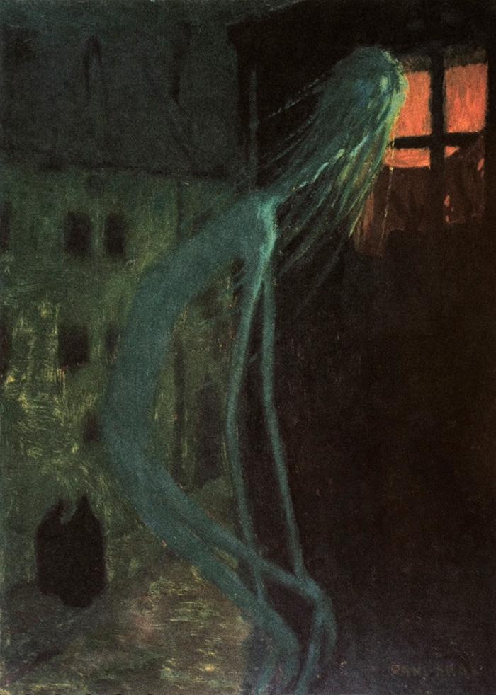 Ярослав Панушка (Jaroslav Panuška). Дух умершей матери. 1900.