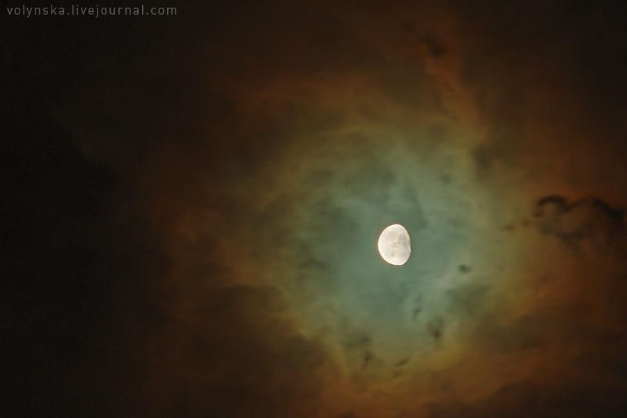 Лунное гало. Октябрь 2016.