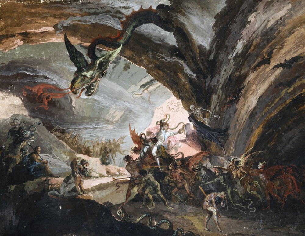Giuseppe Bernardino Bison (1762 – 1844). Pluto and Harlequin in Hell.