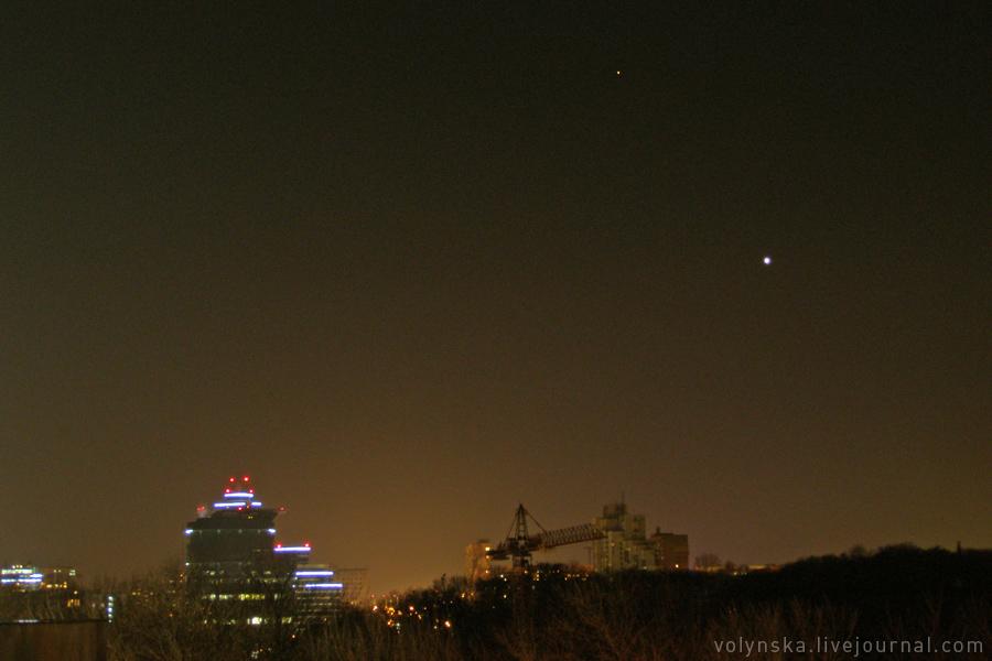 Венера и Марс на закате.