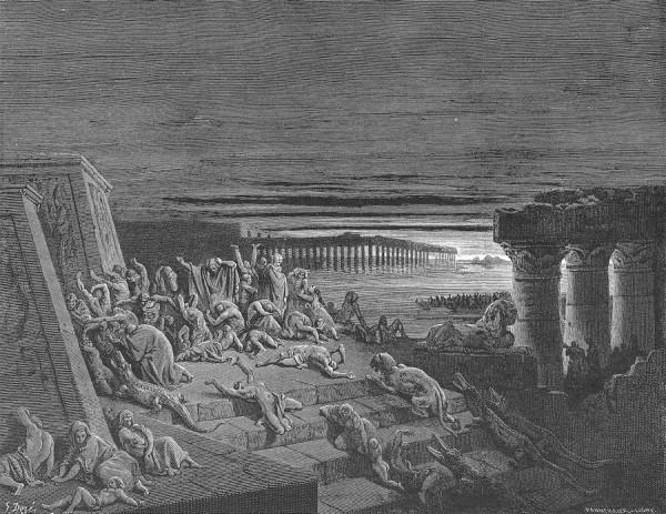 Гюстав Доре ( 1832–1883 ). Тьма египетская. 1866.
