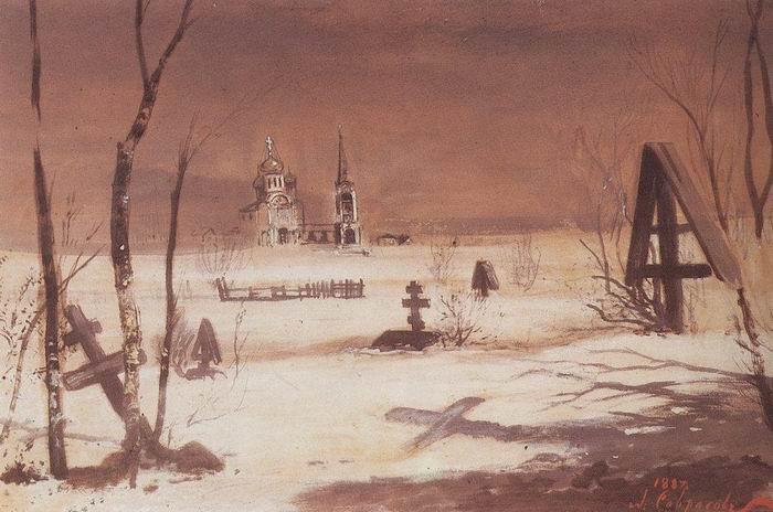 A.K.Savrasov-Selskoe-kladbishhe