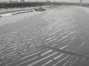 Вид с Крымского моста (февраль)