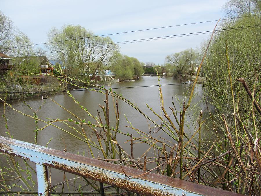 Вид с 1-го пешеходного моста