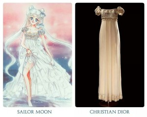 This Christian Dior dress is what inspired Naoko Tehuchi to dress Princess Serinity