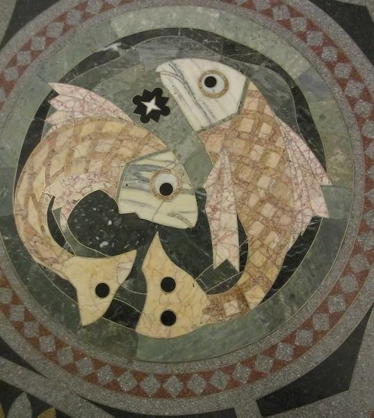 Рыбы. Мозаика. Морской Никольский собор (Кронштадт)